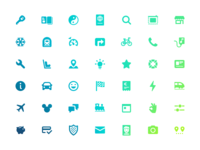 Drivy icon set