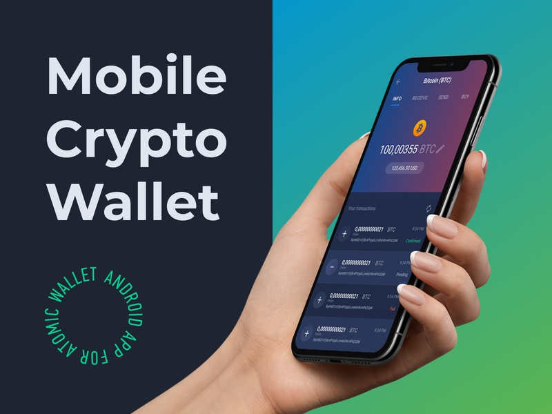 Atomic Crypto Wallet interface yoneg blockchain application ux ui mobile android app wallet crypto wallet crypto