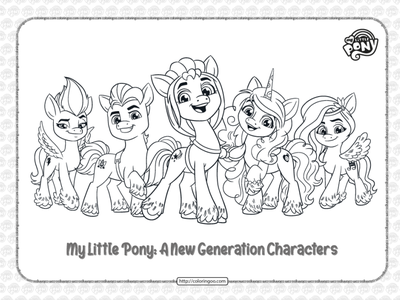 MLP G5 Characters Pdf Coloring Pages zipp sunny pipp izzy hitch coloringpages coloring cartoon my little pony mlp