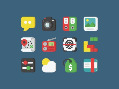 Mobile App // 48px icons settings camera maps adobe mobile icon designer icon design icons icon