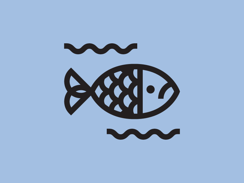 🐟 weeklyillochallenge vector minimal illustrator icon illustration flat fish