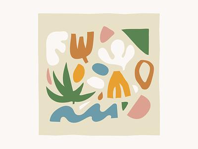 Cutouts + color play flat color cutout matisse