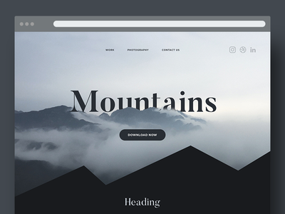 Landing page // Mountains theme