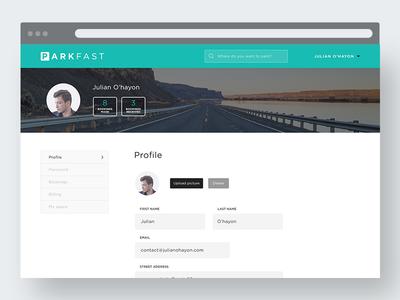 Dashboard // Parkfast