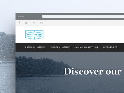 Ecommerce // hottub.be design web minimal ui flat clean typography lettering shop commerce ecommerce