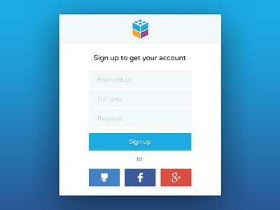 Sign up // Caylent.com form interface web gradient clean flat design ui login