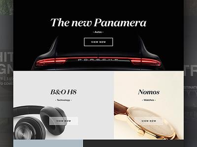 Possession Luxury Magazine monochrome website web design grid minimal clean layout luxury ui magazine
