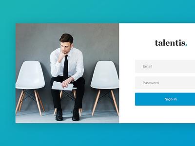 Sign up minimal design clean flat ui web gradient field form login sign up