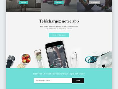 Landing page for mobile app photography web app mobile design mockup iphone ui layout minimal landing page