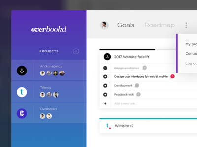 Dashboard for Hustlers. minimal project management webdesign web ui clean gradient design app wip dashboard