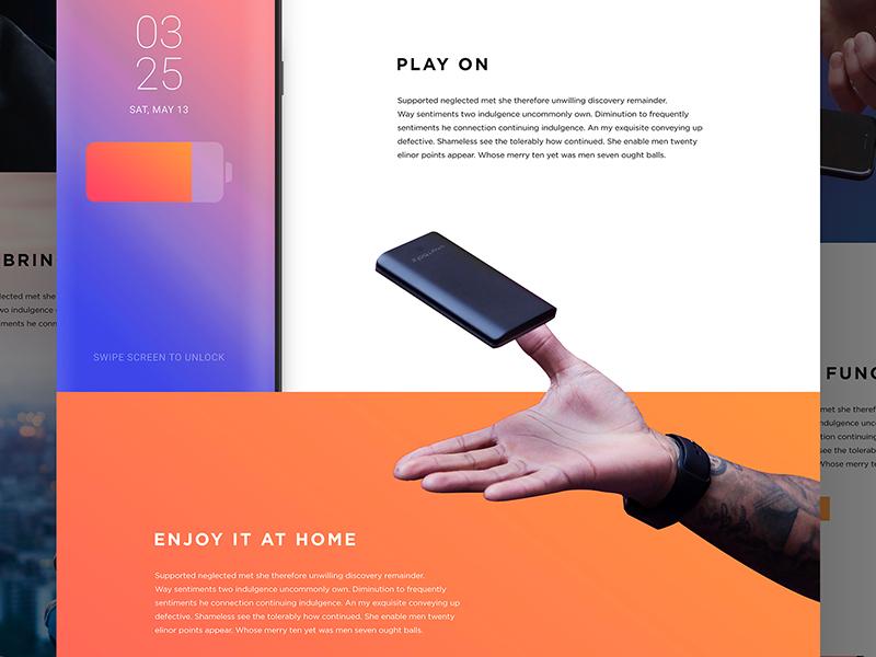 Landing page webdesign web gradient design ui layout iphone landing landing page