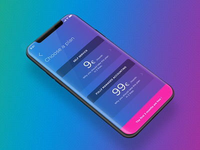 Pricing plans gradient pricing plan plans design ui mobile layout iphone x pricing