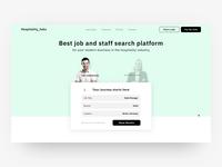 Homepage for job/staff search platform
