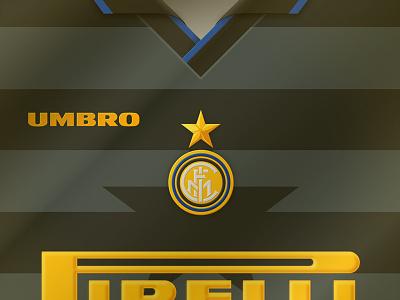 1997-98 FC Inter Legendary Jersey umbro pirelli ronaldo iconic retro milano internazionale 1998 1997-98 shirt kit crest logo vector design football jersey inter legendary