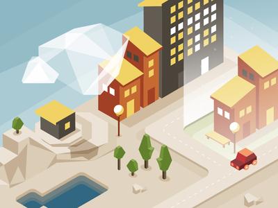 Isometric city illustration isometric