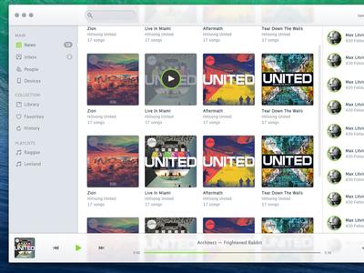 Music Player Concept mac os x mavericks music player app concept