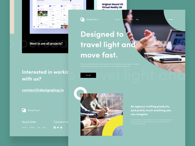 DesignPlug.io Landing Page digital mobile splash flat map illustration agency minimalist website app dashboard design desktop interface ios creative landing typography ui ux