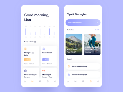 Expy Health App creative meditation medical workout recover fitness dashboard healthcare design desktop interface app users landing typography ui ux