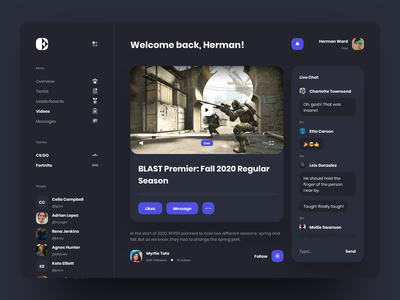 Stemo Dashboard streaming stream twitch gaming game broadcasting broadcast card website app dashboard design desktop interface ios creative landing typography ui ux