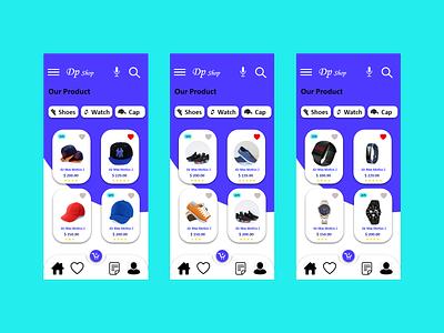 Ecommerce adobe xd application mobileapp graphic design ui