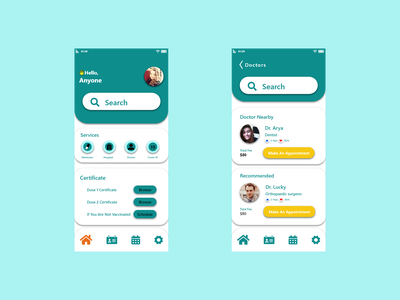 Doctor Appointment mobileapp adobe xd design graphic design application uiux ui