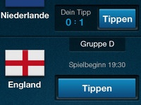 Soccer EURO2012 App - Matches Overview Detail