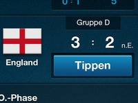 Soccer EURO2012 App - New Button Style