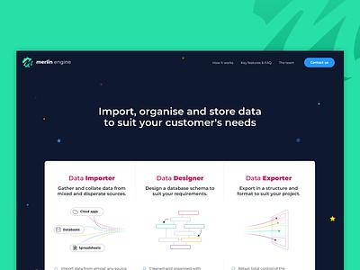 Merlin site ui design design product page responsive website