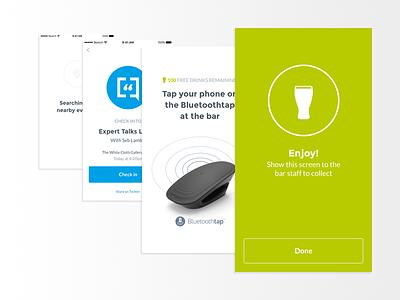 Tap Pass Screens hotspot bluetooth mobile ux ui ios app