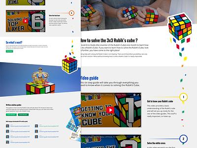 Rubik's Cube solution landing page responsive landing page website rubik ux ui