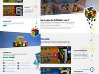 Rubik's Cube solution landing page