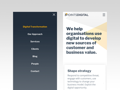 3PointsDigital screens agenvy website sketch responsive ux ui