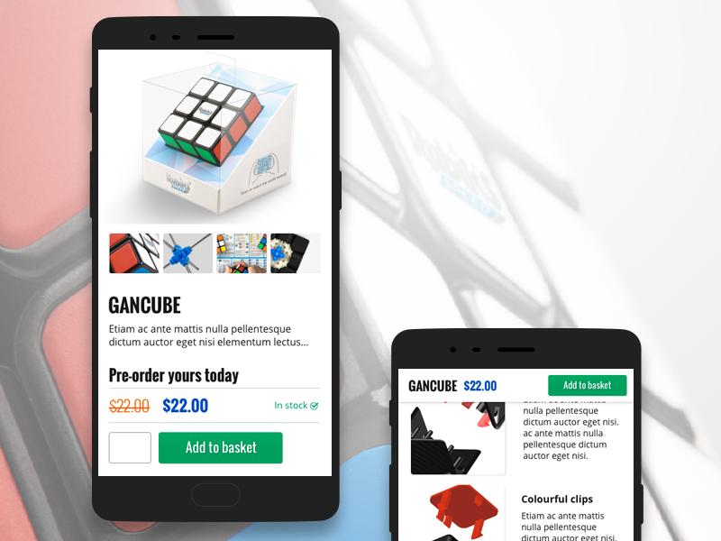 Rubiks Cube product page product page rubiks cube responsive mobile website e-commerce eccomerce