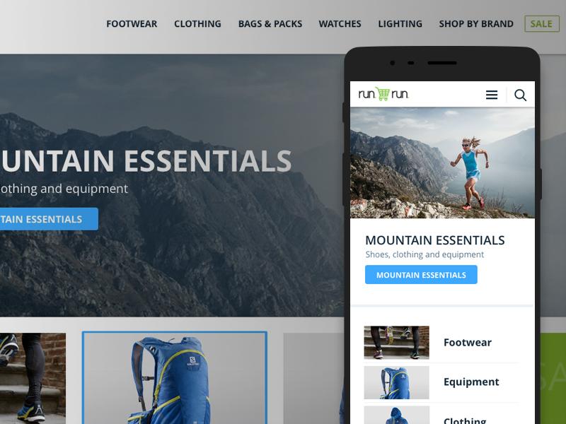 Run shop run trail running ux ui website responsive ecommerce shopify