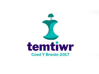 Temtiwr concept tree apple brand event logo