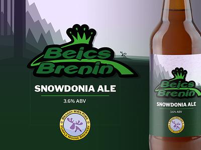 Mws Piws label brewery ale bikes mtb wales trees label bottle beer
