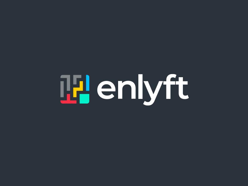 Enlyft Unused logo concept rebrand product identity logo branding