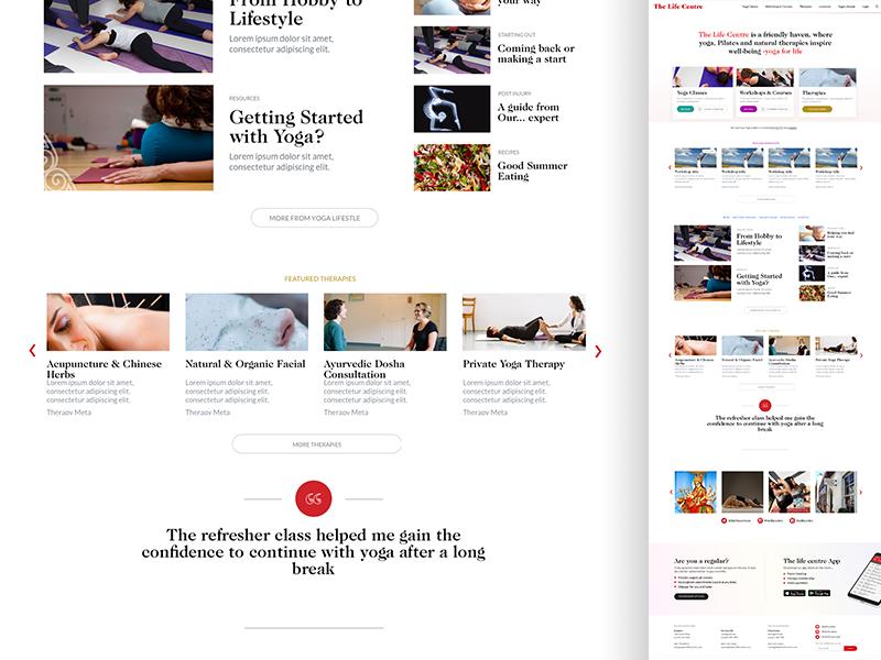 tlc UI detail editorial website ux ui yoga