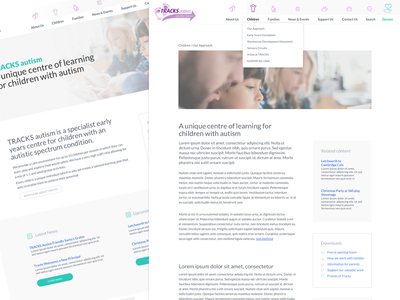 Tracks screen layouts uidesign ux design non profit school website responsive design