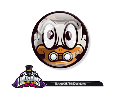 Daily Challenge 28/50: Ducktales the Movie (1990) daily badge sticker mcduck scrooge illustration movie the tales duck