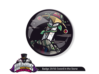 Daily Challenge 29/50: Sword in the Stone (1963) graphicdesign wizard merlin sticker illustration stone the in sword daily dribble