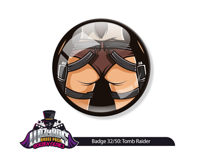 Daily Challenge 32/50: Tomb Raider (2001)  adobeillustrator vectorart laracroft graphicdesign tombraider pins sticker illustration dribble daily