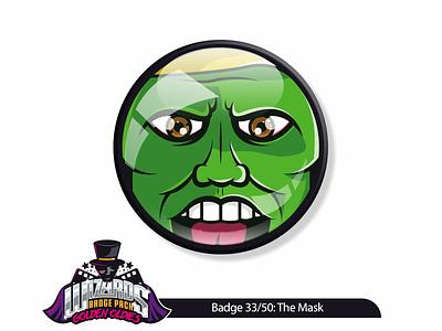 Daily Challenge 33/50: The Mask (1994) jimcarrey graphicdesign themask movie cartoon comic illustration badge sticker