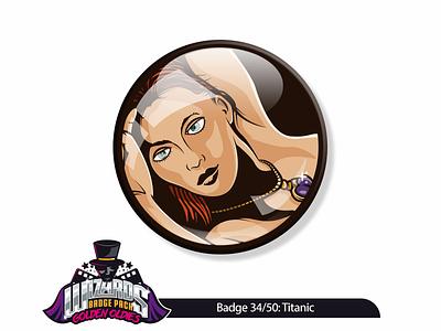 Daily Challenge 34/50: Titanic (1997) illustration vector stickerart sticker badge titanic daily