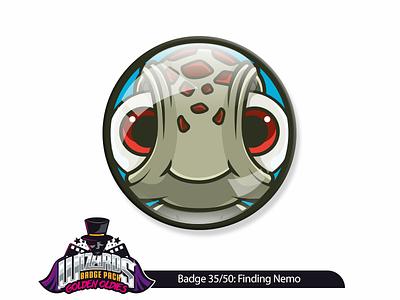Daily challenge 35/50: Finding Nemo (2003) cute cartoon adobe illustration stickerart vector sticker nemo finding