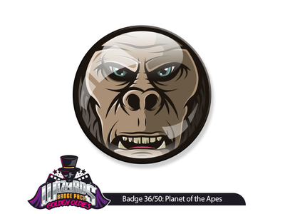 Daily challenge 36/50: Planet of the Apes (2001) design graphic chimp gorilla ape illustration sticker apes the of planet