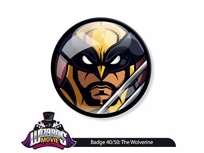 Movie concept 40/50: The Wolverine (2013) art vector sticker pin badge design graphic movie thewolverine wolverine