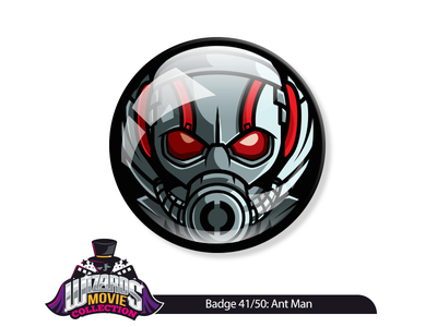 Concept 41/50: Ant Man (2015) illustration vector design graphic collection button badge pin movie antman man ant