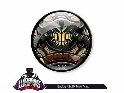 Badge Concept 42/50 (2015) graphicdesign illustration immortan joe max mad art sticker pin badge
