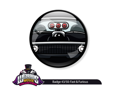 Movie concept 43/50: The Fast & The Furious (2001). art vector sticker pin charger dodge furious fast